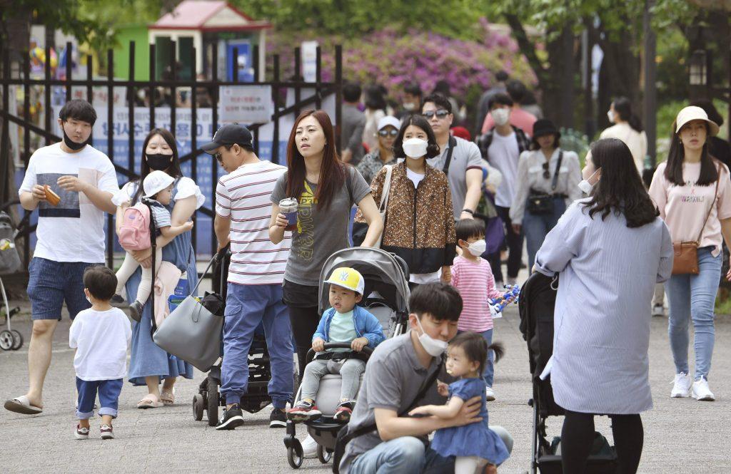 Un zoo bondé à Seoul ce 4 mai.