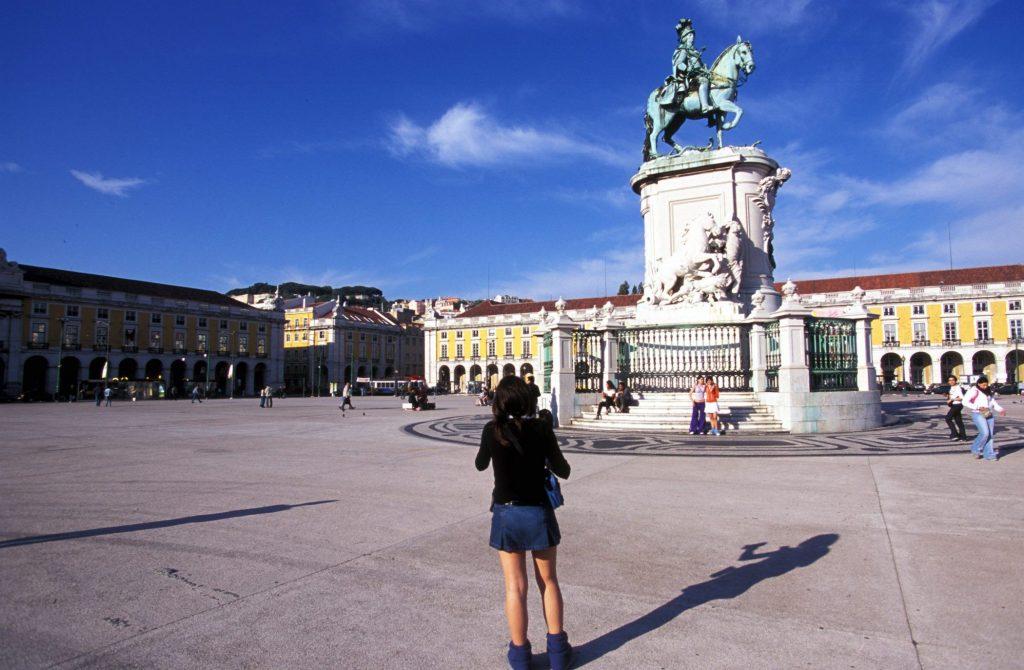 La Place du Commerce (Praça do Comércio), au centre de Lisbonne @BelgaImage